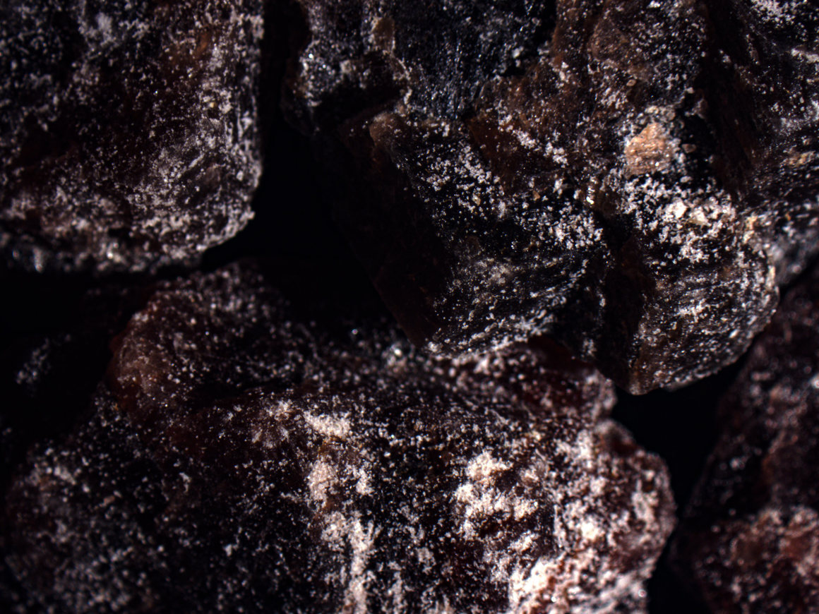 This chunk of kala namak salt, says Sharma, is actually a chunk of hard rock.