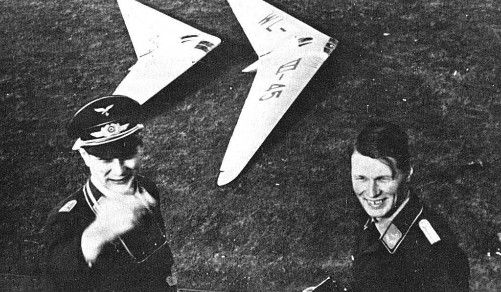 Germany's Horten brothers, Reimer and Walter (left) conceived and developed the idea of an all-wing aircraft before and during World War II.
