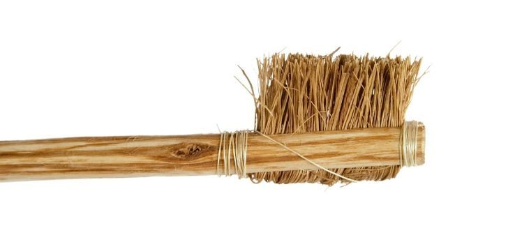 An ancient Egyptian type of toothbrush.