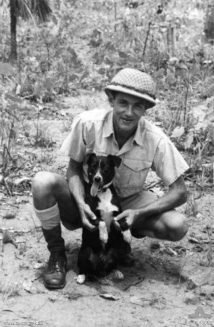 Gunner with his handler Percy Westcott