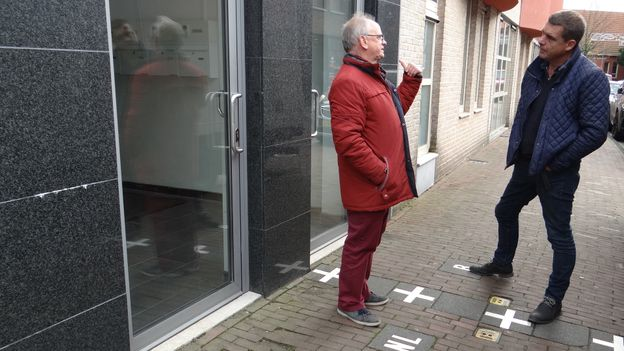 Kees de Hoon skirted a Dutch building restriction by installing a second front door on the Belgian side of the border (Credit: Credit: Andrew Eames)
