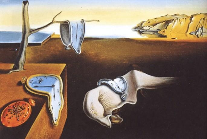 A persistência da memória: quadro surrealista de Salvador Dalí - Toda Matéria