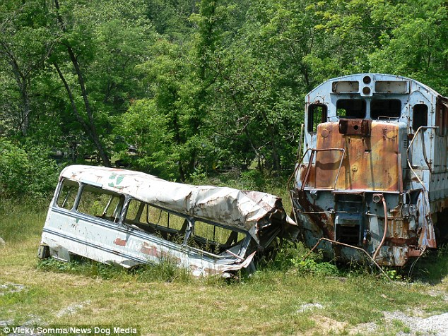 The wreckage has since become a tourist attraction 23 years after the memorable action scene was shot