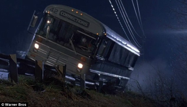 In the film, the bus is a prison transport which crashes when fellow prisoners attempt an escape