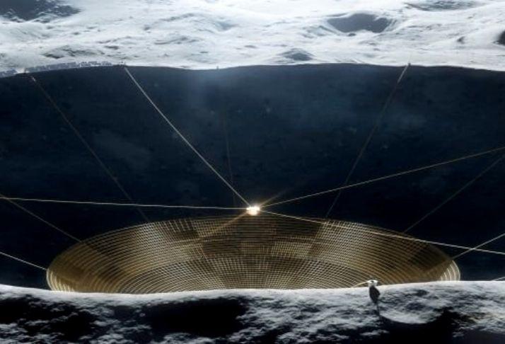 A construção do maior telescópio da Terra no outro lado da lua